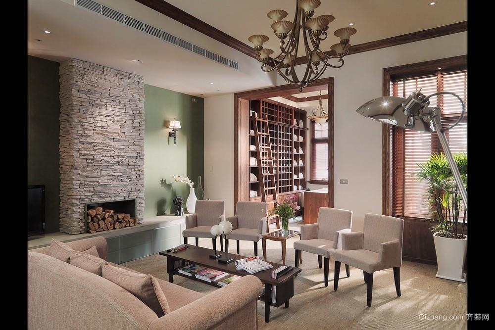 雁滩家园美式风格装修效果图实景图