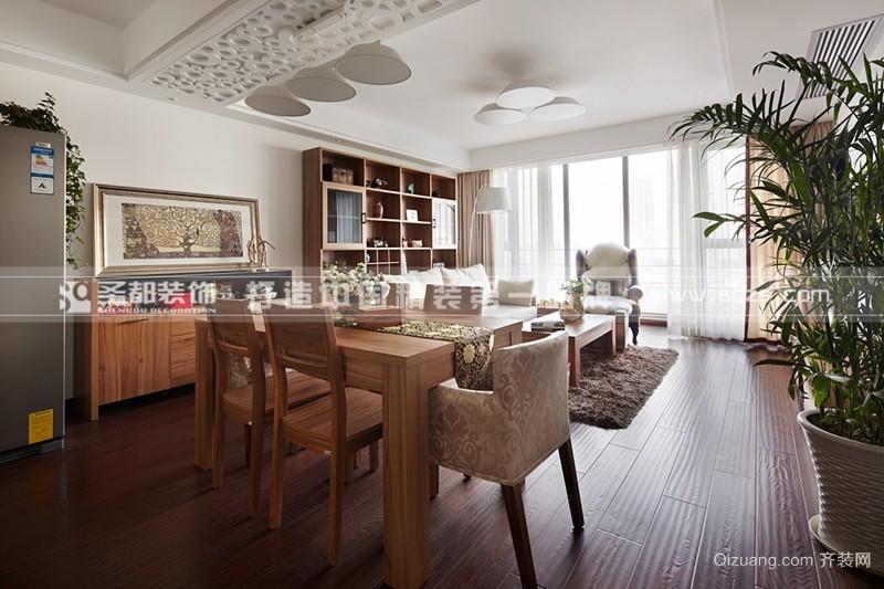 [现代木质风]六合天寓110现代简约装修效果图实景图