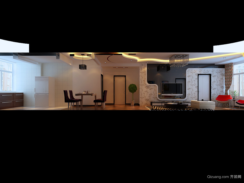 钻石湾地中海阳光混搭风格装修效果图实景图