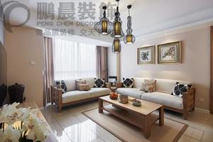 新华联梦想城136平简中式风格装修效果图