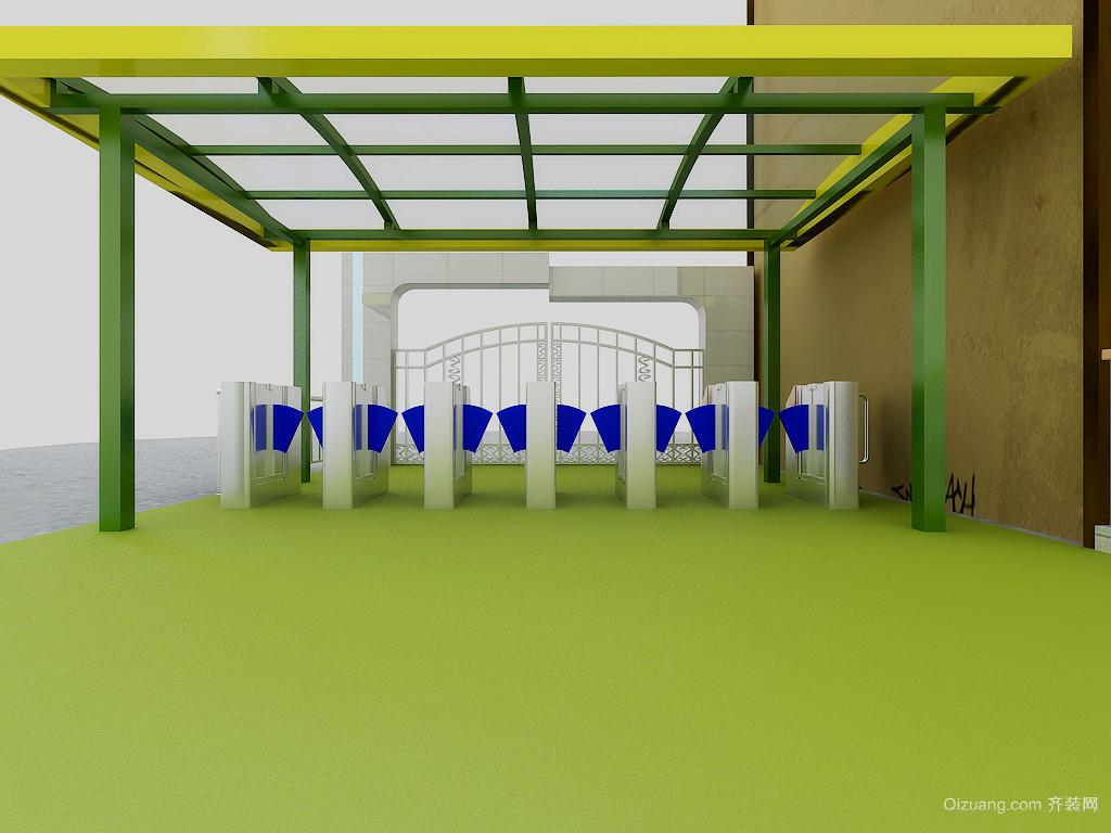 蓝天幼儿园现代简约装修效果图实景图