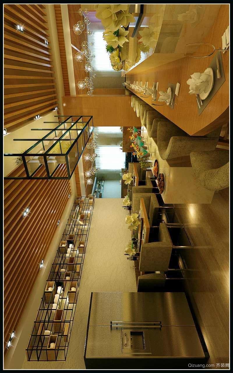 桃海餐厅现代简约装修效果图实景图