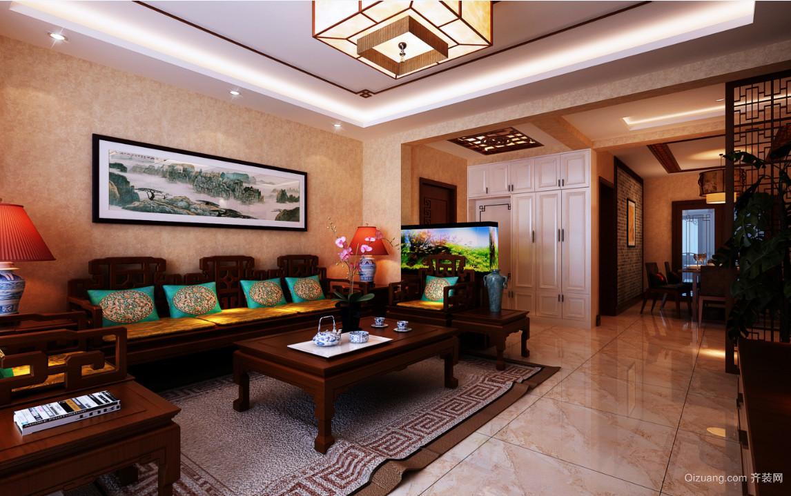 八一阳光家园中式风格装修效果图实景图