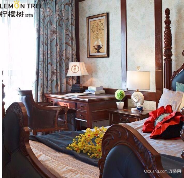 中国诺贝尔城美式风格装修效果图实景图