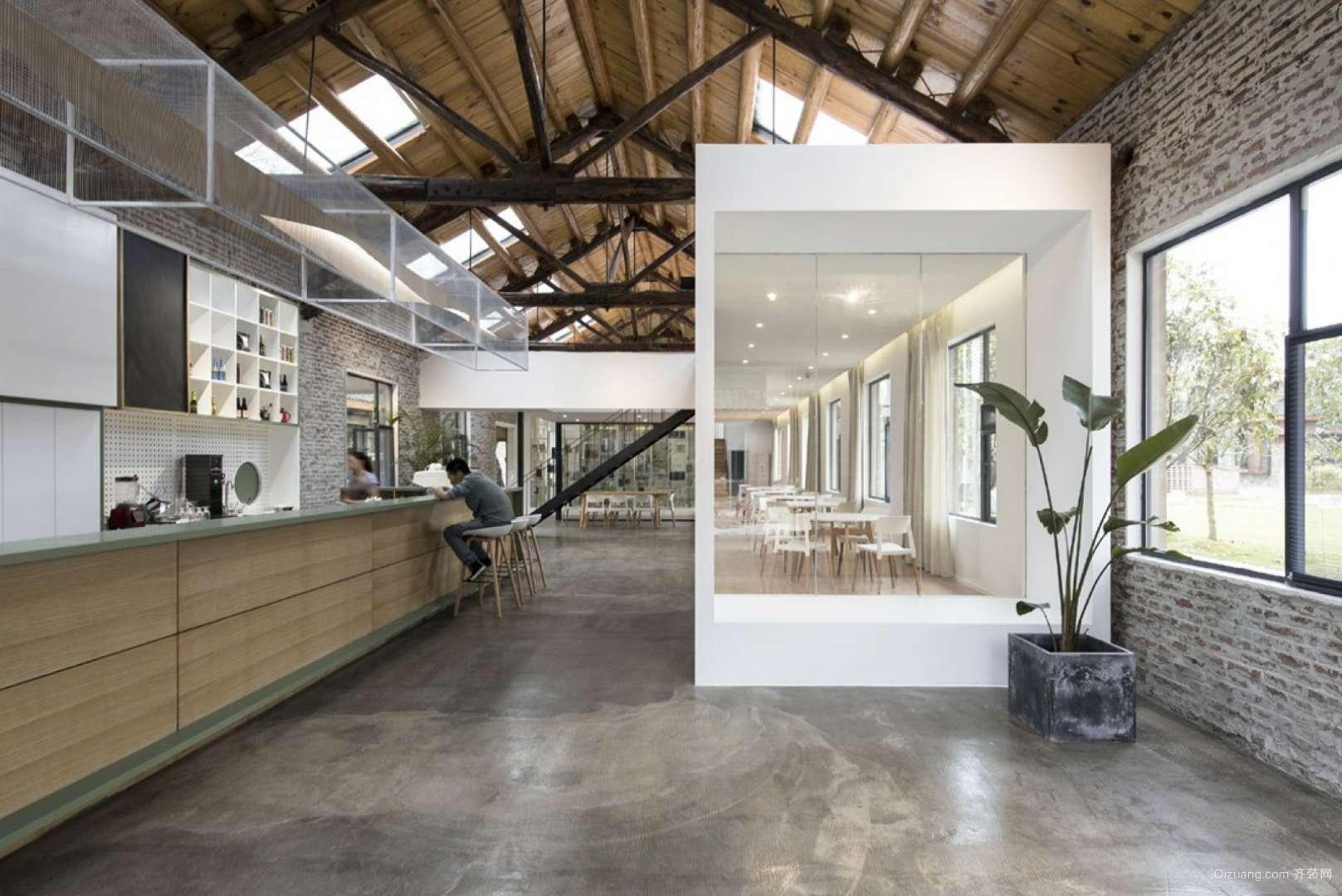 咖啡店现代简约装修效果图实景图