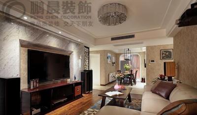 芜湖中央城111平中式装修效果图装修设计案例