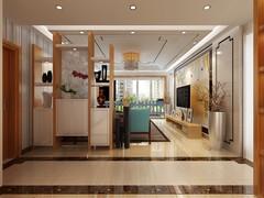 君泰·中央公園新中式风格三居室