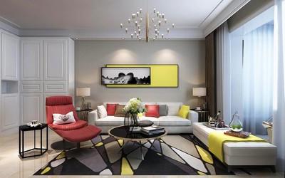 太原龙瑞苑现代简约三居室装修设计案例