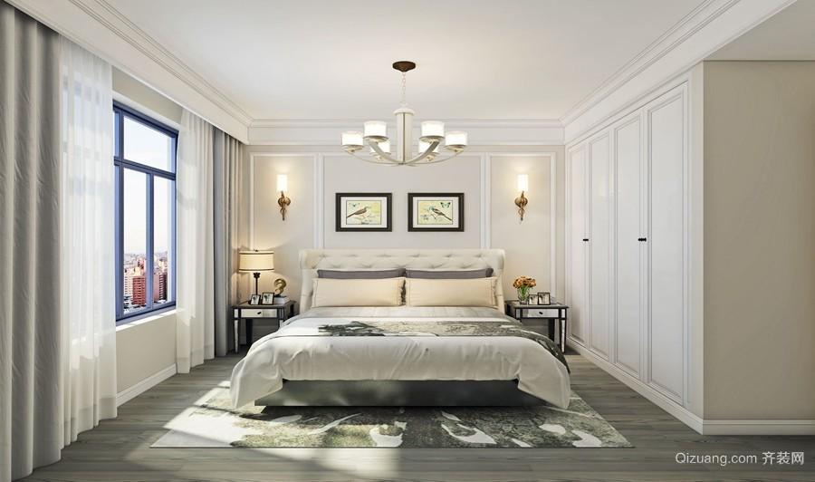 泰安新城美式风格装修效果图实景图