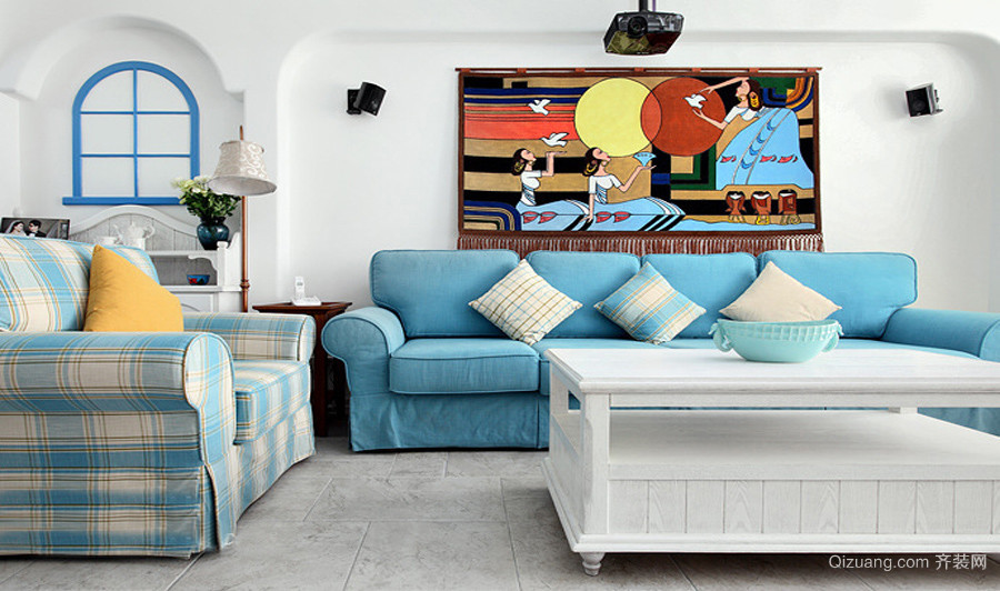 大理民航大厦地中海风格装修效果图实景图