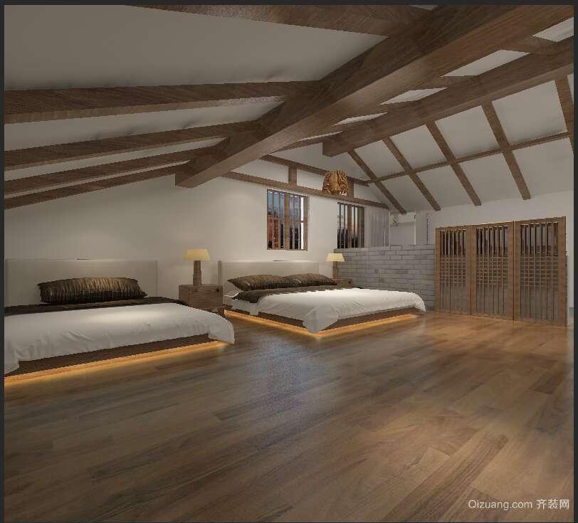 东山民宿中式风格装修效果图实景图