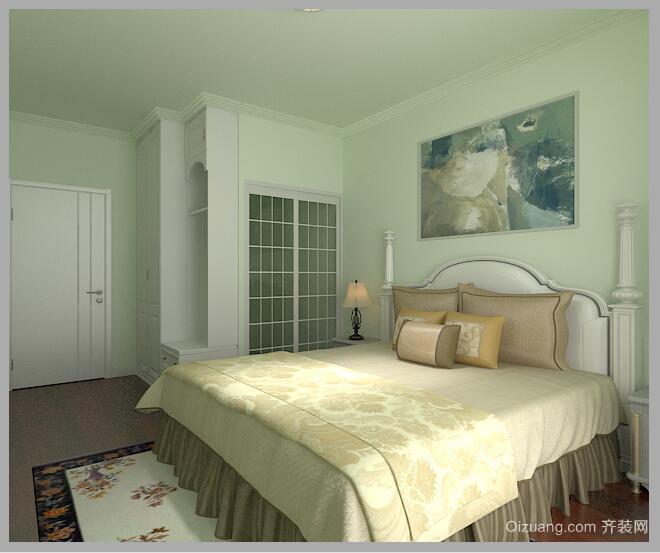 东苑路小区美式风格装修效果图实景图