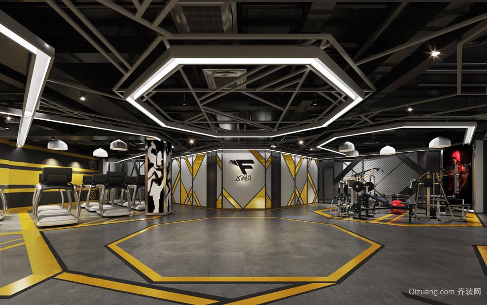 健身房现代简约装修效果图实景图