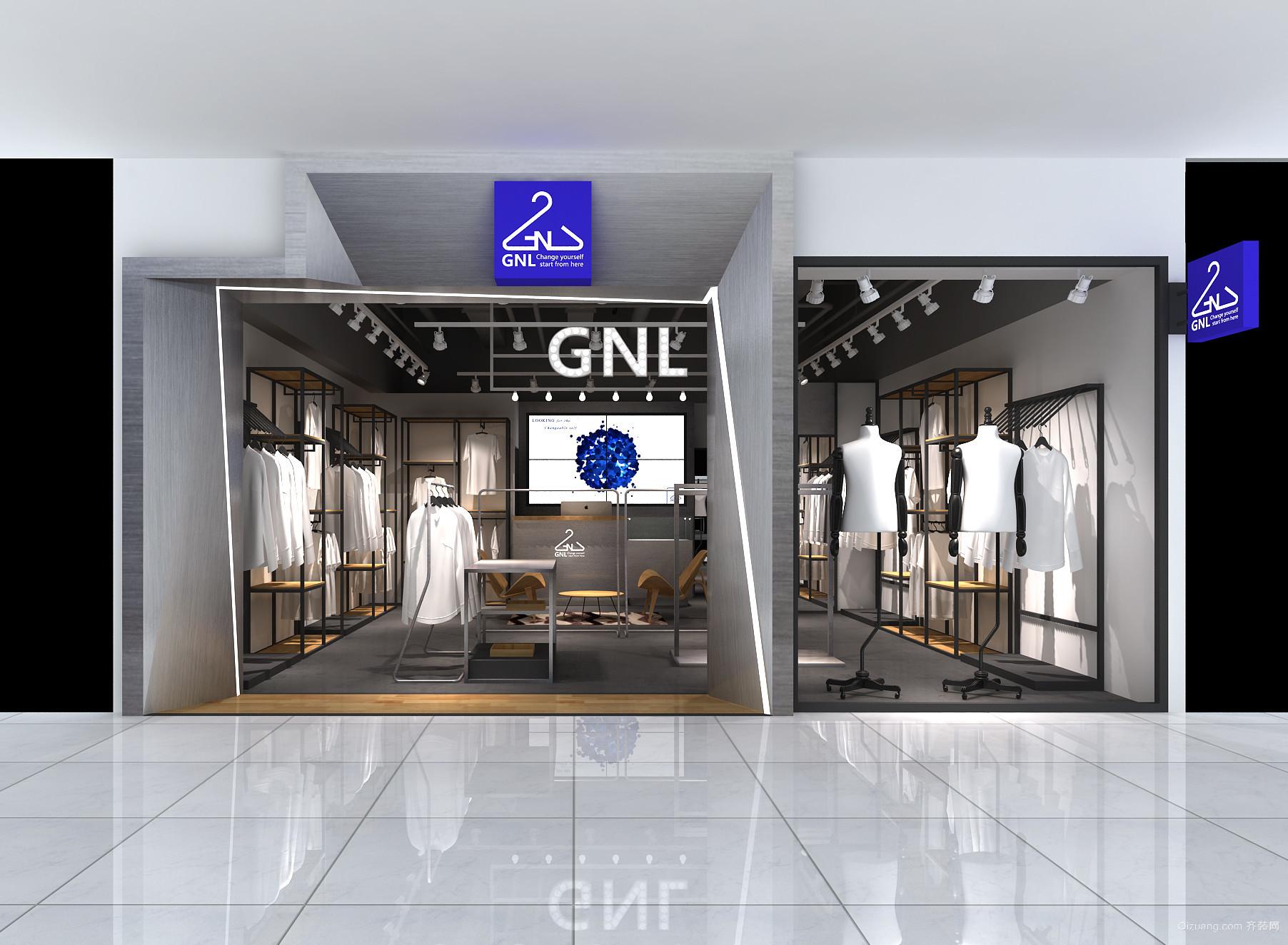 CNL女装店铺现代简约装修效果图实景图
