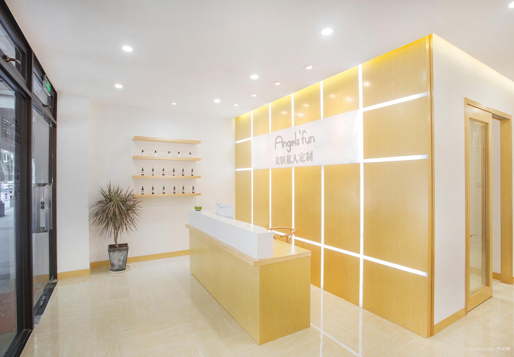 美容院现代简约装修效果图实景图