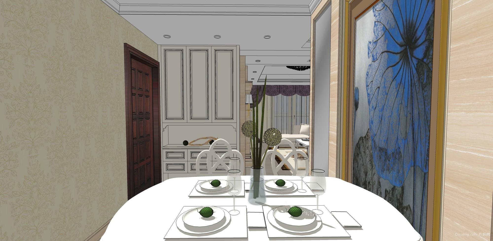 橄榄绿洲欧式风格装修效果图实景图