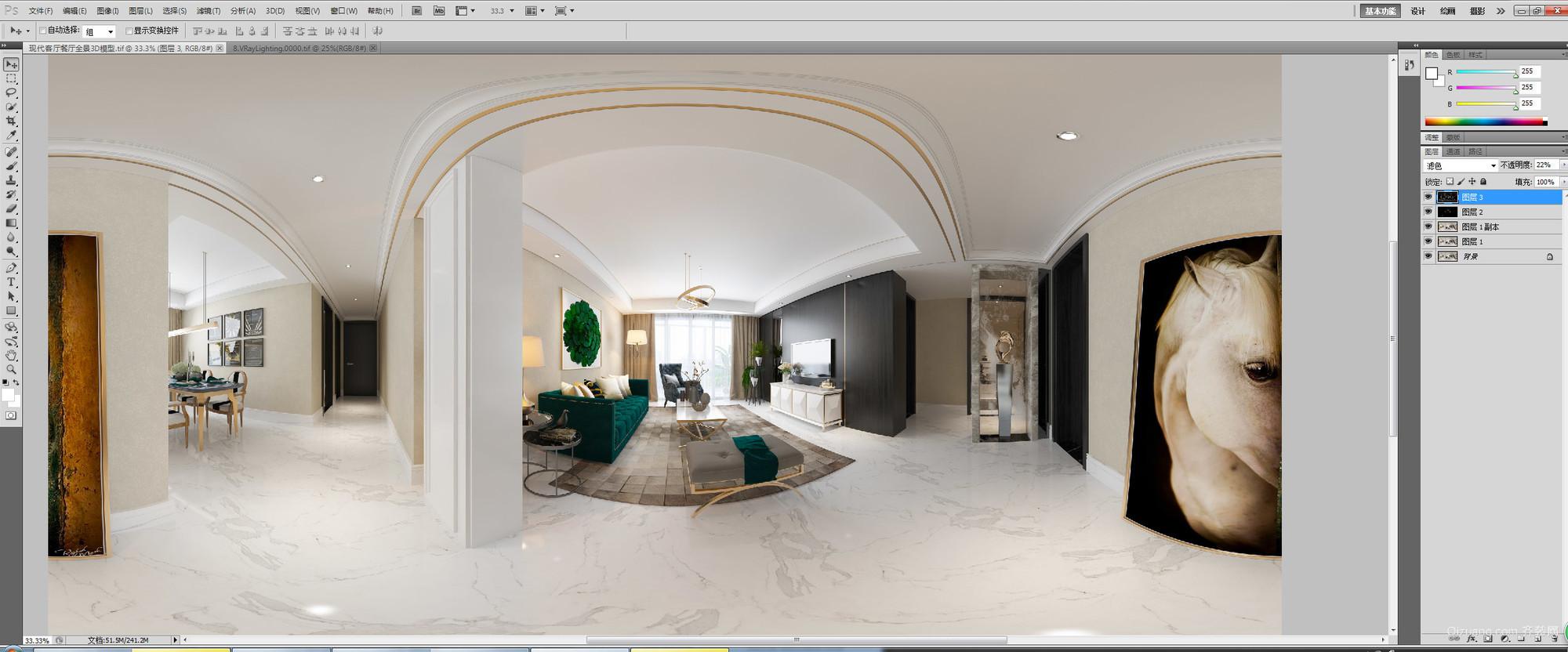 亚星盛世家园现代简约装修效果图实景图
