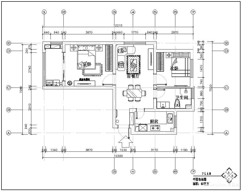 康桥宝邸欧式风格装修效果图实景图