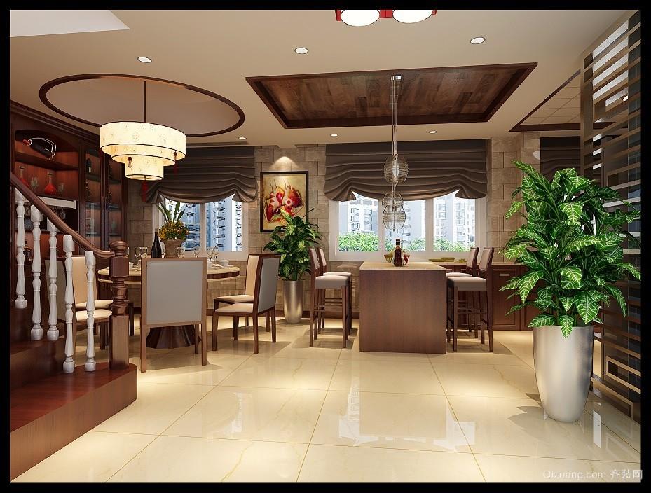 朴园竹山园中式风格装修效果图实景图