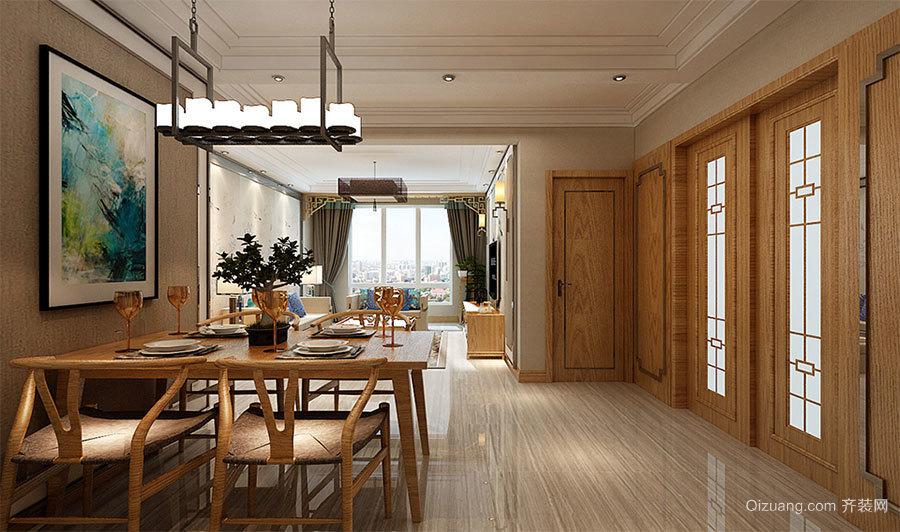 阳光家苑中式风格装修效果图实景图