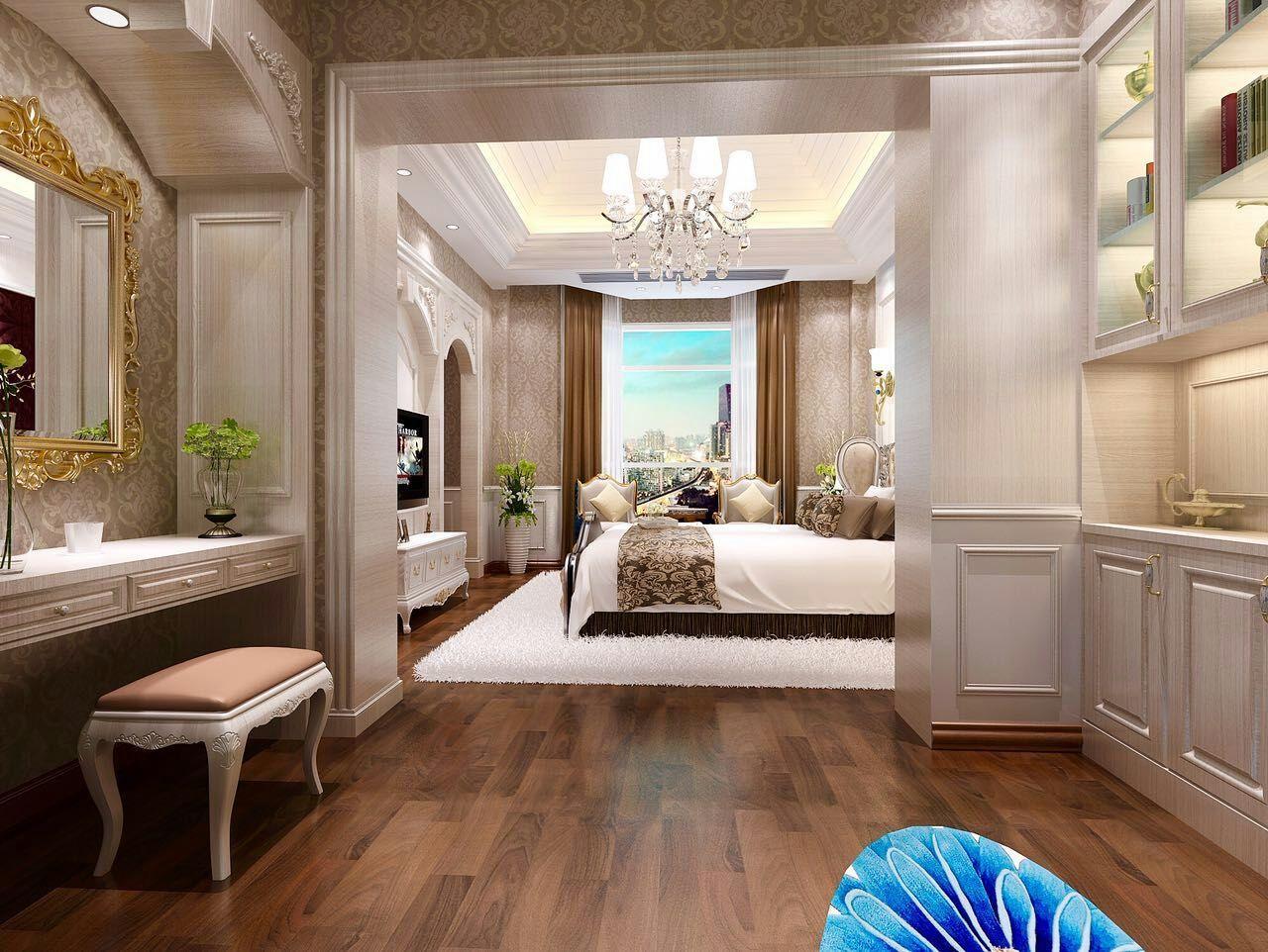 驸马山庄三期玺湖别墅美式风格装修效果图实景图
