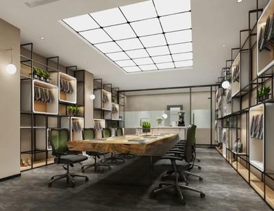 东莞现代简约办公室装修设计案例