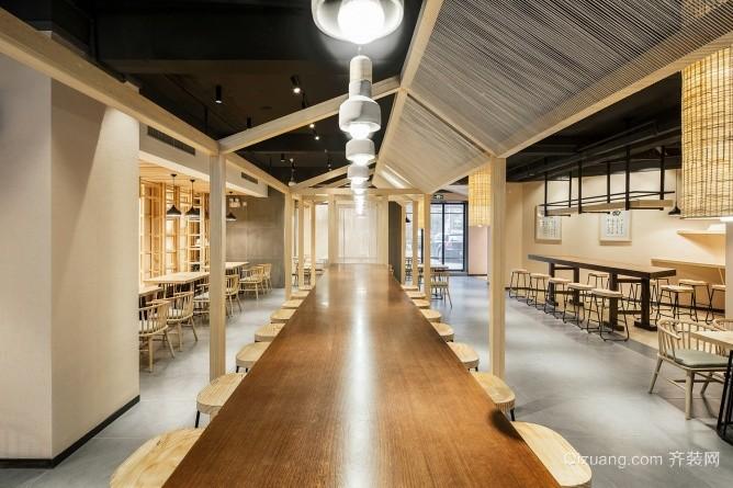 欢易小面餐厅现代简约装修效果图实景图