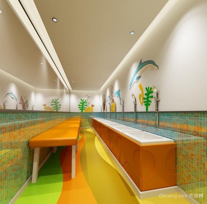 亲子游泳馆现代简约装修效果图实景图