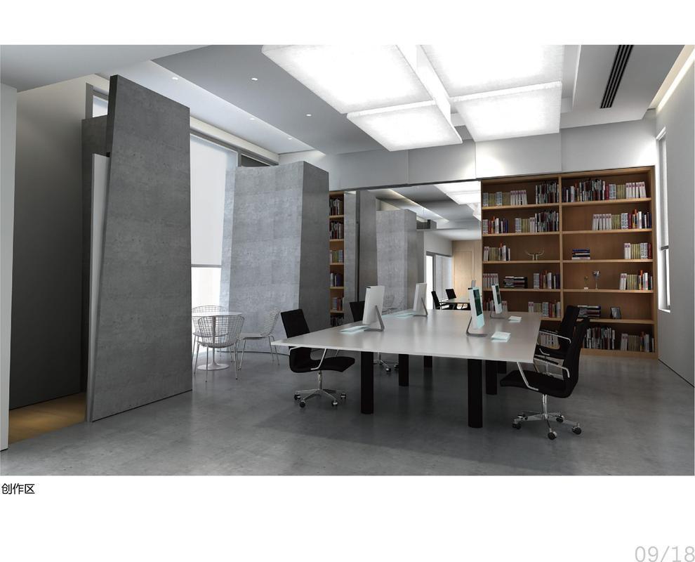 江汉路供销大楼现代简约装修效果图实景图