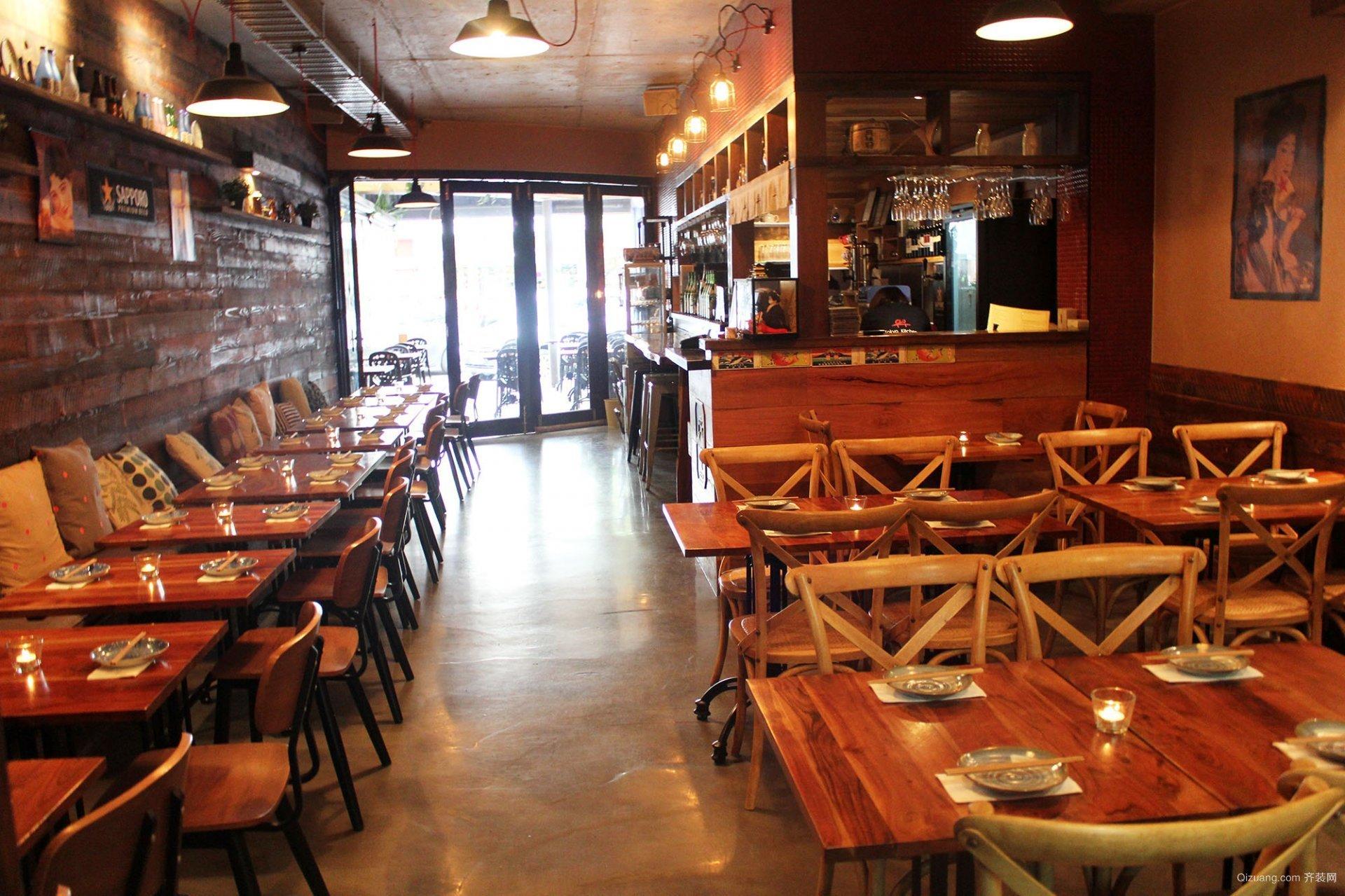 西西里餐厅现代简约装修效果图实景图