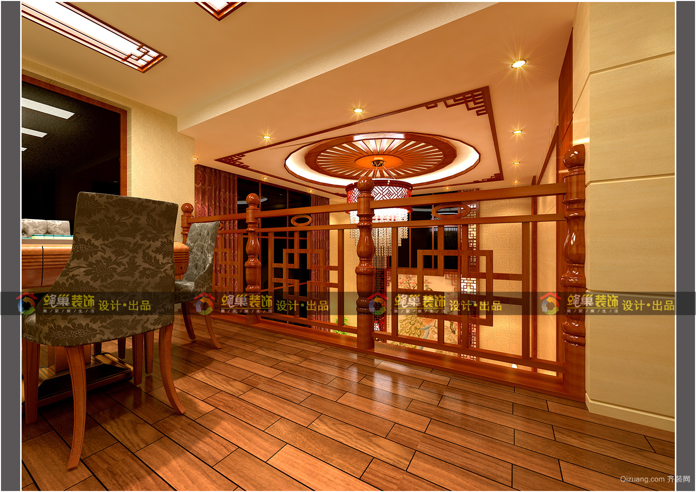 左官屯自建房中式风格装修效果图实景图