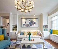 140平美式三居室,收纳柜做得好,分分钟扩大30平