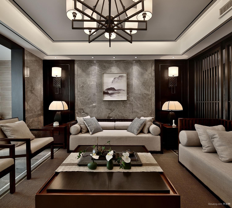 紫廷名苑中式风格装修效果图实景图
