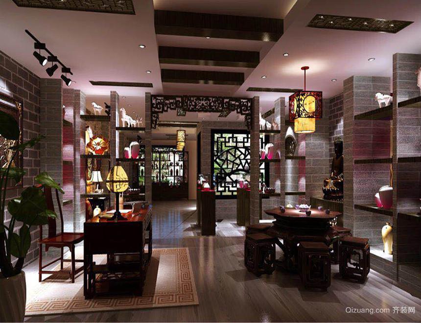 艺术馆中式风格装修效果图实景图