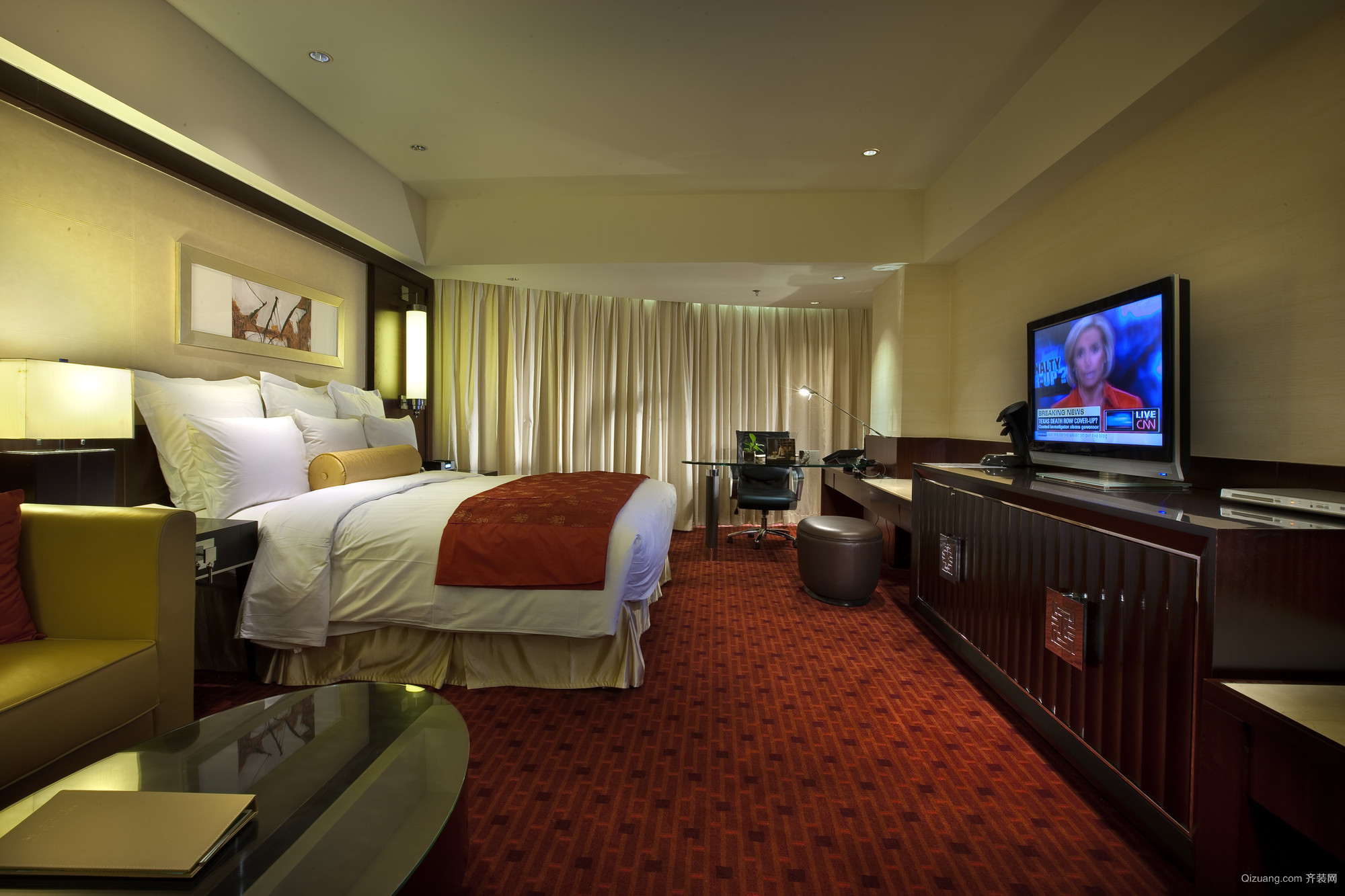 北京荷华万豪酒店混搭风格装修效果图实景图