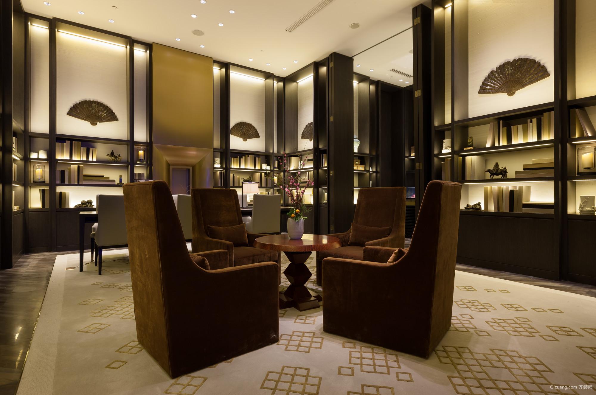 北京华尔道夫酒店混搭风格装修效果图实景图