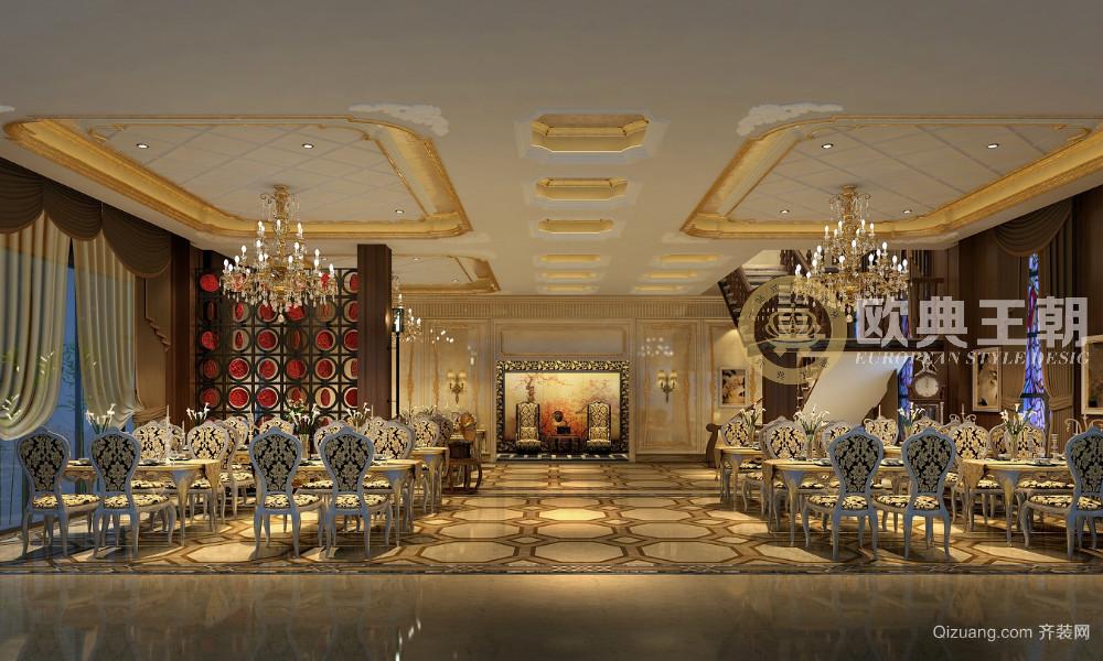 安仁民国饭店古典风格装修效果图实景图