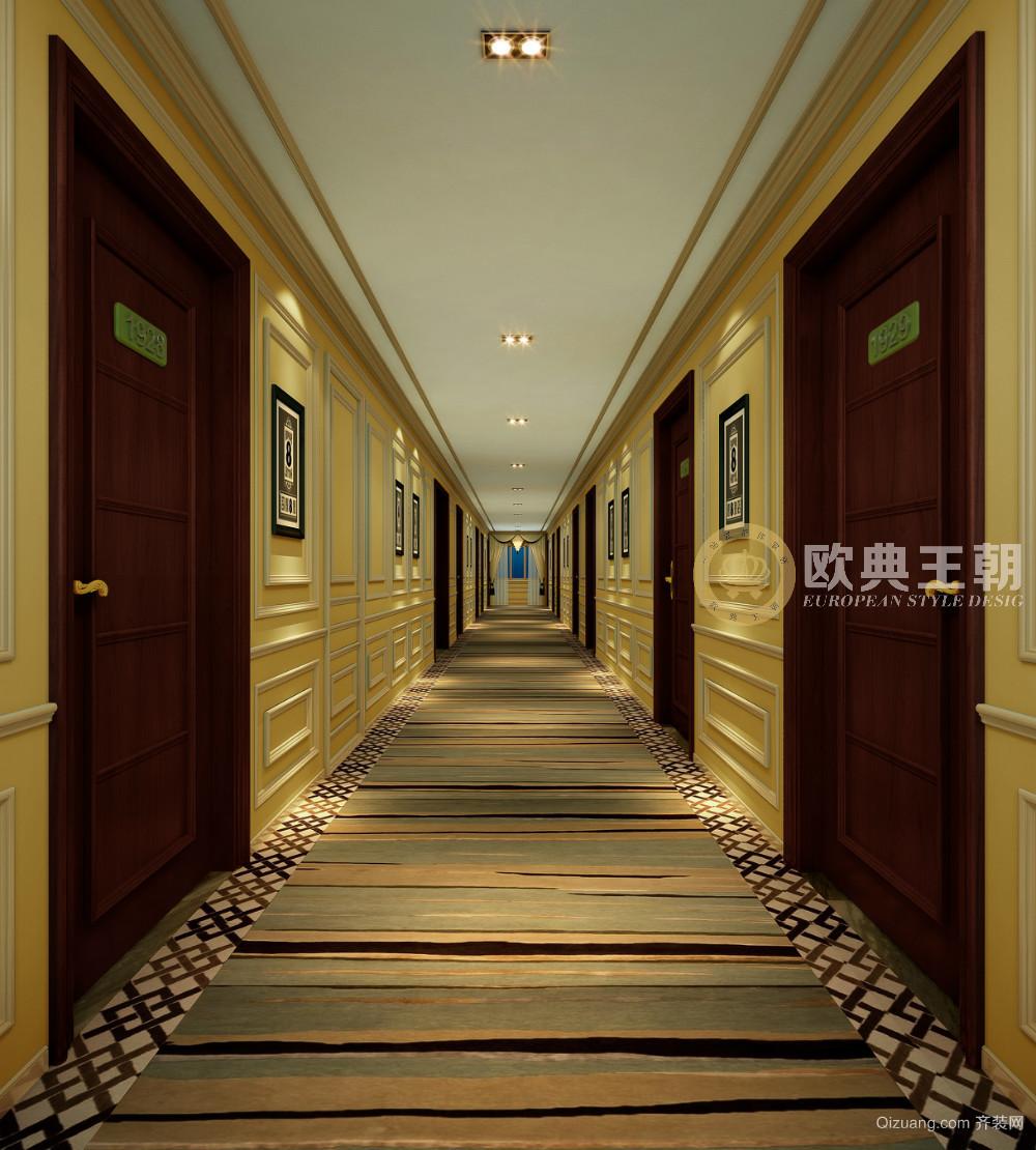 成都速8酒店欧式风格装修效果图实景图