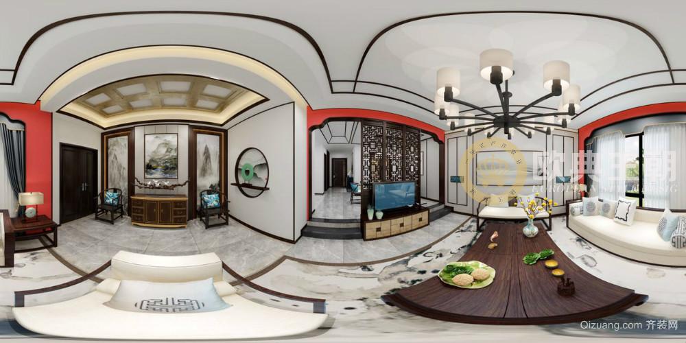 腾冲水墨中国中式风格装修效果图实景图