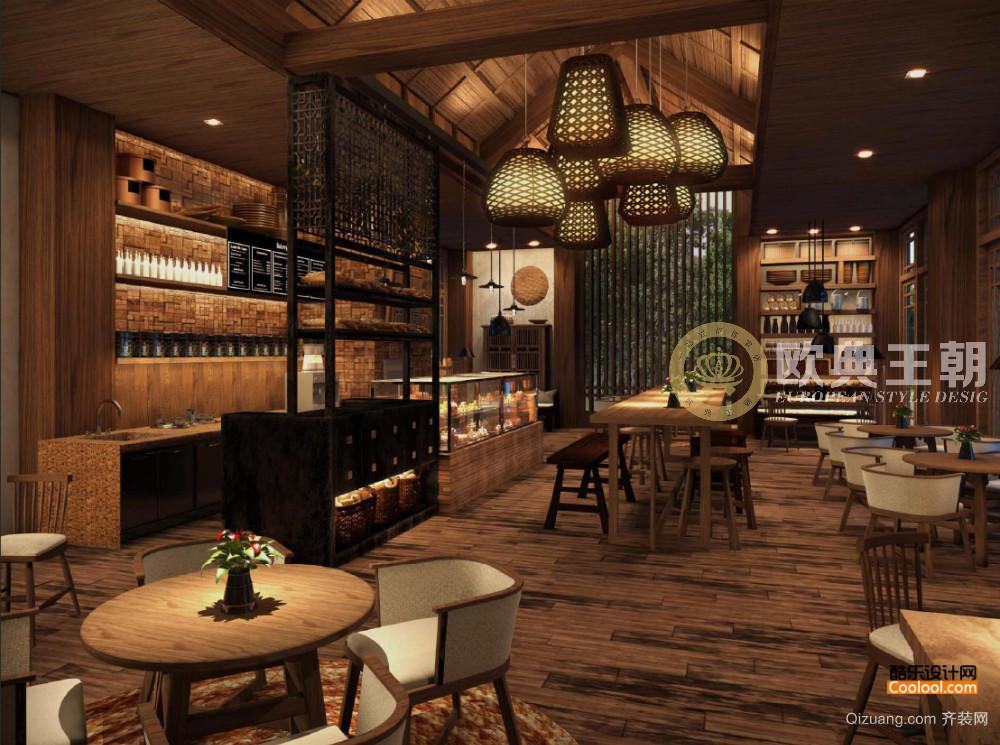 龙泉餐厅中式风格装修效果图实景图