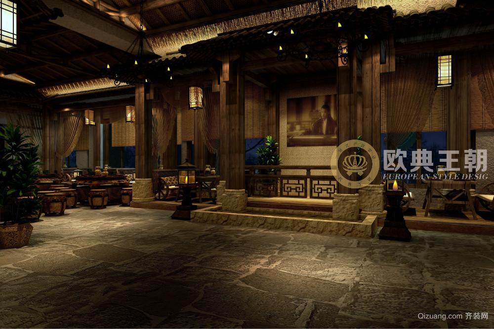 三国主题餐厅中式风格装修效果图实景图