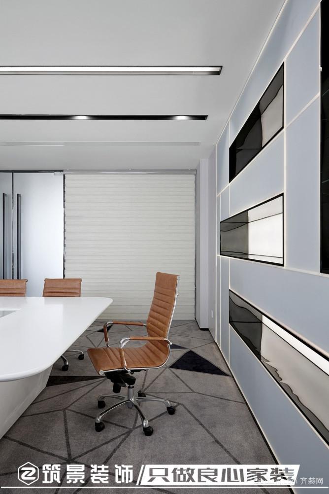 某办公室现代简约装修效果图实景图