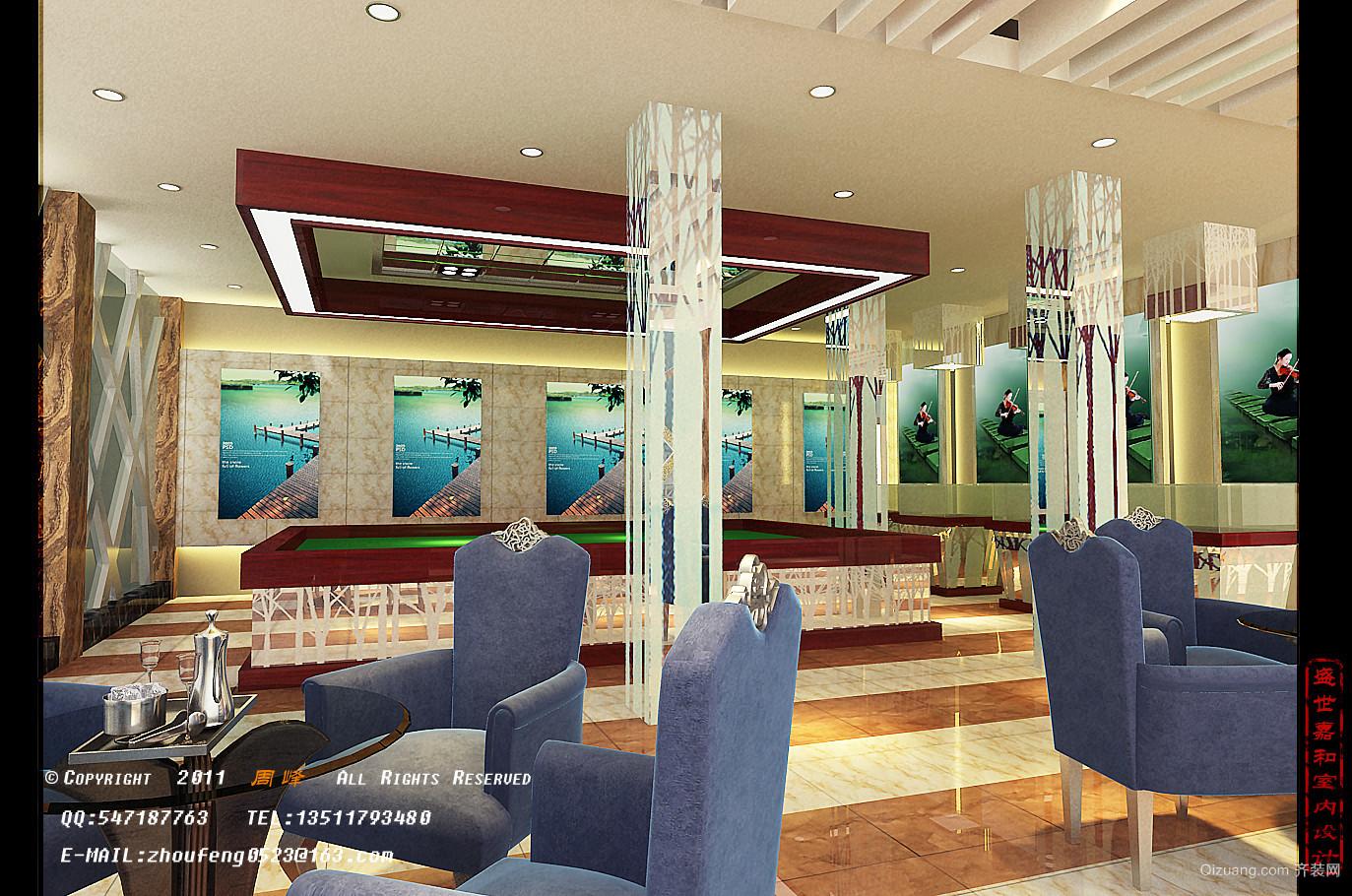 售楼处现代简约装修效果图实景图