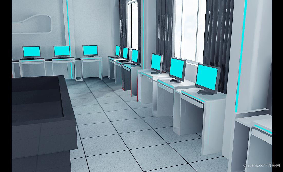 实验室现代简约装修效果图实景图