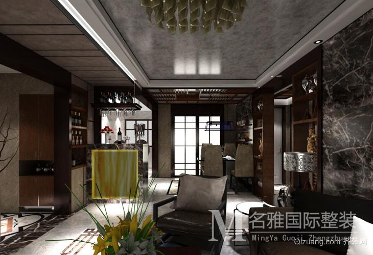 中海银海熙岸现代简约装修效果图实景图