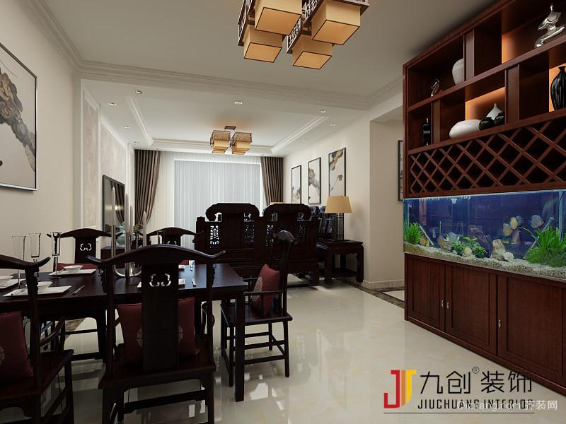 华润威海湾九里中式风格装修效果图实景图