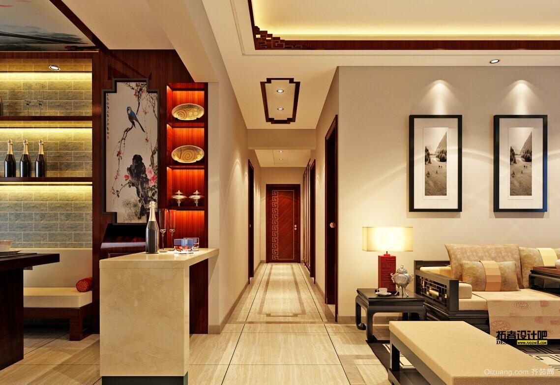 滨河公馆中式风格装修效果图实景图