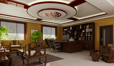厦门中式风格办公室装修设计案例
