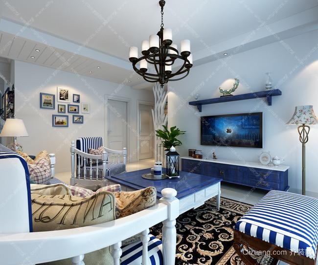 赛纳丽城地中海风格装修效果图实景图