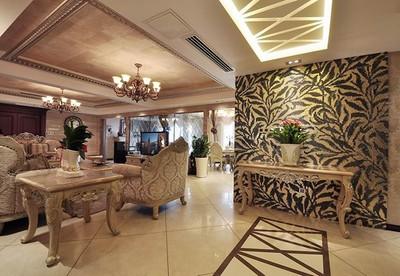 金堂现代美式混搭三室两厅装修设计案例